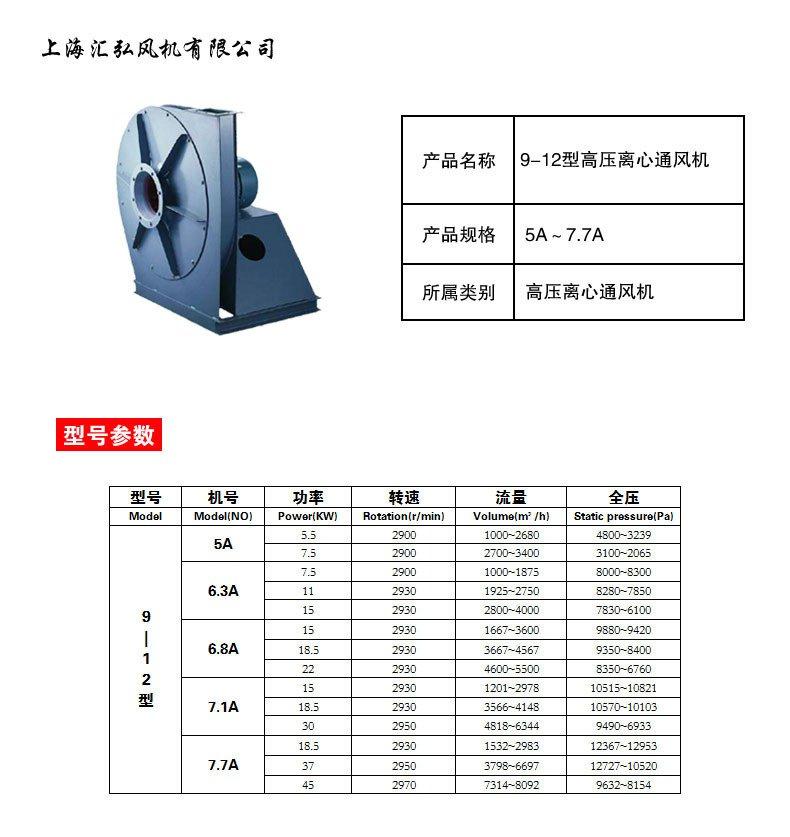 9-12型高压离心风机
